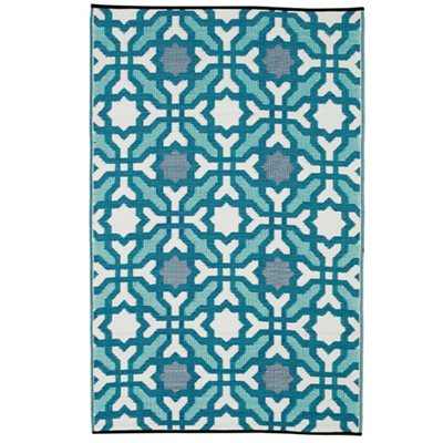 FAB HAB SEVILLE OUTDOOR RUG in Multicolored Blue