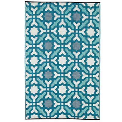 SEVILLE OUTDOOR RUG in Multicolored Blue