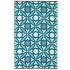 Seville Outdoor Rug in Multicolour Blue