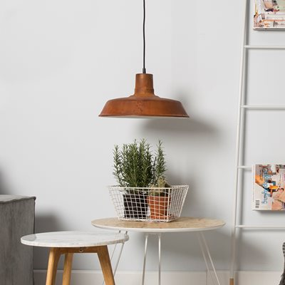 PENDANT CEILING LIGHT in Industrial Rusty Style