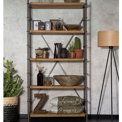 SHELF IRON DISPLAY CABINET in Industrial Style
