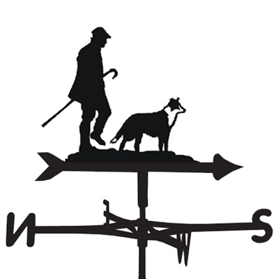 WEATHERVANE in Man & Dog Design