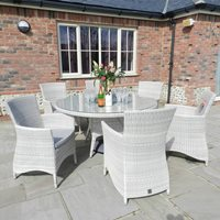 SHERATON RATTAN TABLE AND CHAIRS by 4 Seasons Outdoor