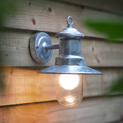 ST IVES WALL MOUNTED SHIPS GARDEN LIGHT in Industrial Style