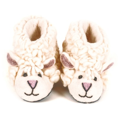 CHILDREN'S Animal Slippers in Shirley Sheep Design