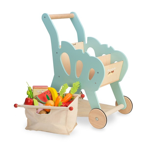 Le Toy Van Honeybake Shopping Trolley with Fabric Bag