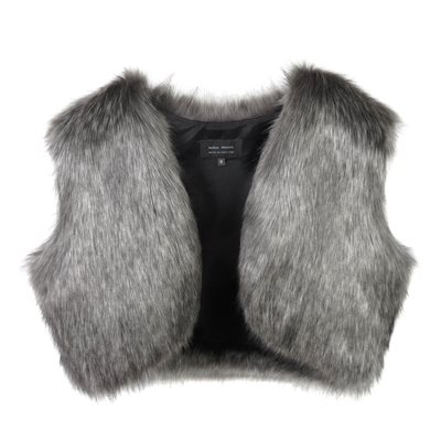HELEN MOORE FAUX FUR SHRUG in Lady Grey