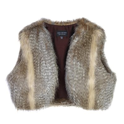 HELEN MOORE FAUX FUR SHRUG in Siberian Wolf