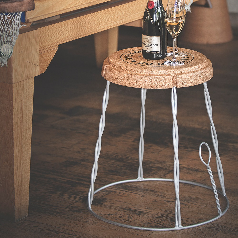Side Table In Cork Design Jpg