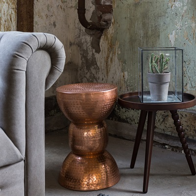 WARUNG SIDE TABLE in Metallic Copper