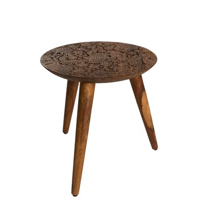 BY HAND SIDE TABLE in Solid Sheesham Wood
