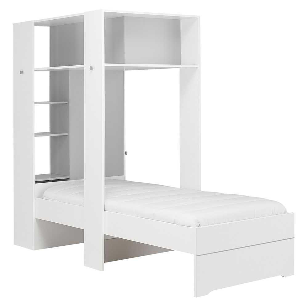 Kids bed side view -  Side View Babel Storage Bed Jpg