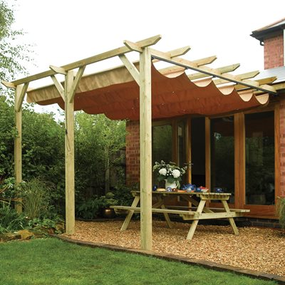 ROWLINSON SIENNA GARDEN CANOPY in Natural Timber