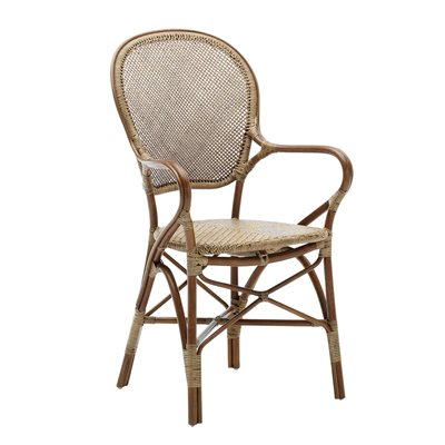 SIKA STACKABLE RATTAN ROSSINI DINING CHAIR in Antique