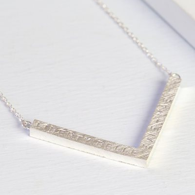 PERSONALISED CHEVRON NECKLACE in Silver