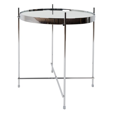 ZUIVER CUPID LIVING ROOM SMALL SIDE TABLE in Metallic Silver