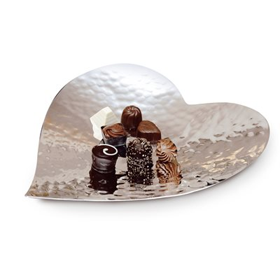 SILVER PLATED Heart Plate by Culinary Concepts