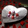 Heart shaped server in silver plated design
