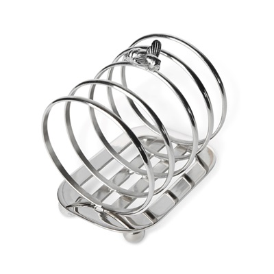 CULINARY CONCEPTS SILVER PLATED BEE TOAST RACK