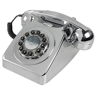 RETRO TELEPHONE 746 in Brushed Chrome