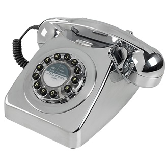 retro telephone 746 in brushed chrome retro telephones. Black Bedroom Furniture Sets. Home Design Ideas