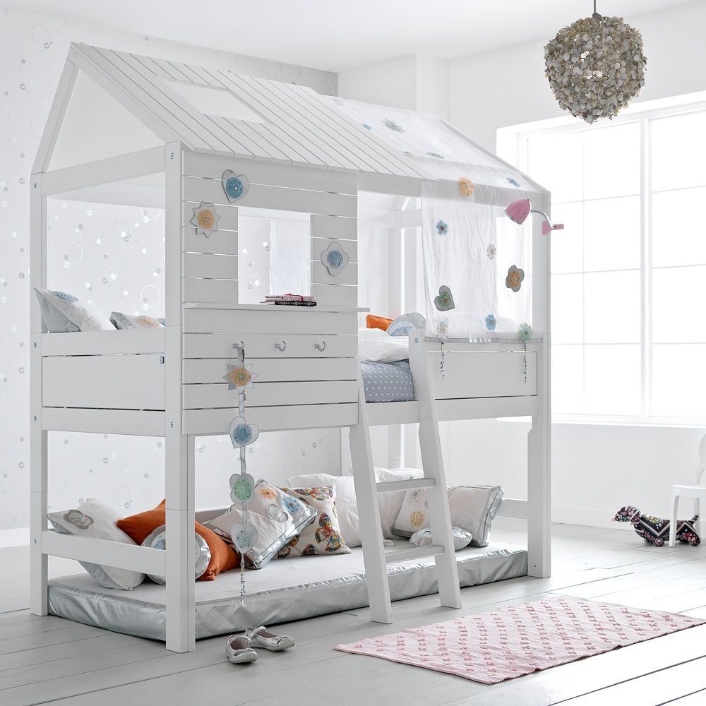 silversparkle children 39 s treehouse high hut bed lifetime cuckooland. Black Bedroom Furniture Sets. Home Design Ideas
