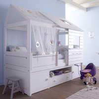 SILVERSPARKLE LOW HUT CHILDRENS BED with Storage