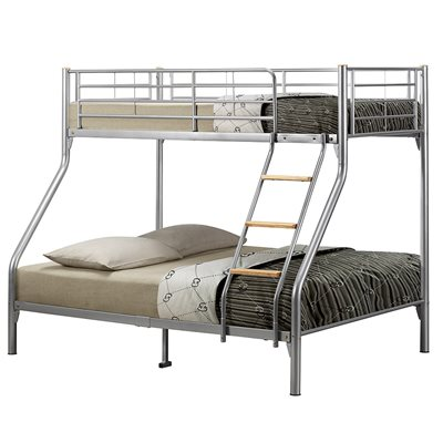 NEXUS TRIPLE-SLEEPER KIDS BUNK BED FRAME in Silver By Birlea