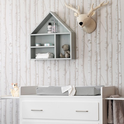 SCANDI WALL SHELF in Mint