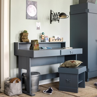 ROUGH COMPUTER DESK in Grey