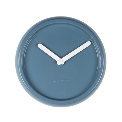 Zuiver Ceramic Time Wall Clock in Blue