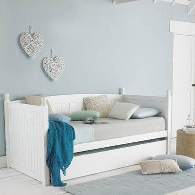 MAYA WOODEN DAY BED WITH TRUNDLE DRAWER