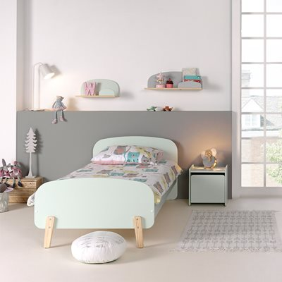KIDDY SINGLE KIDS BED in Mint Green