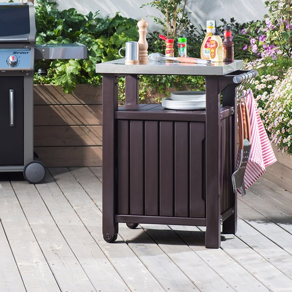 Small BBQ Table in Brown