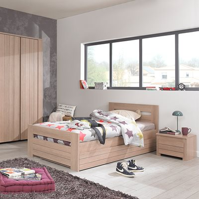 NATURELA HAZELNUT OAK EFFECT KIDS SINGLE BED