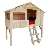 KIDS TREE HOUSE SINGLE CABIN BED in Pine & MDF
