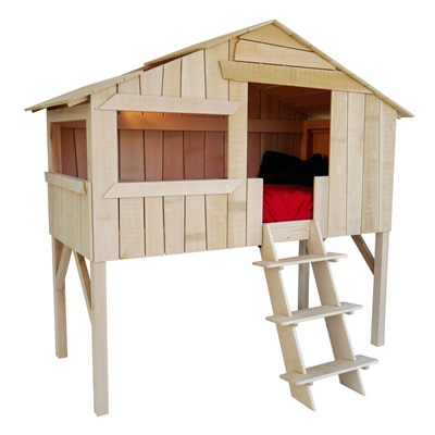 KIDS TREE HOUSE SINGLE CABIN BED in Pine & MDF