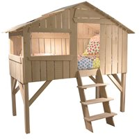 KIDS TREE HOUSE SINGLE CABIN BED in Natural Lime Wood