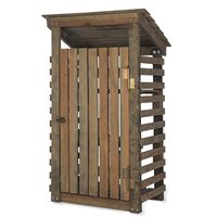 WOODEN SINGLE WHEELIE BIN STORAGE