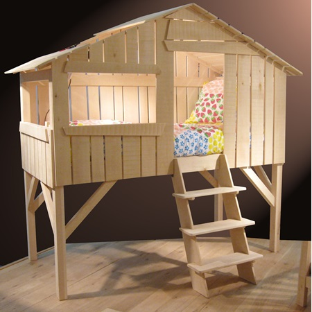 Childrens treehouse cabin bed in wood fun kids beds for Treehouse toddler bed