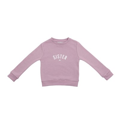 BOB & BLOSSOM SISTER SWEATSHIRT in Dusty Violet