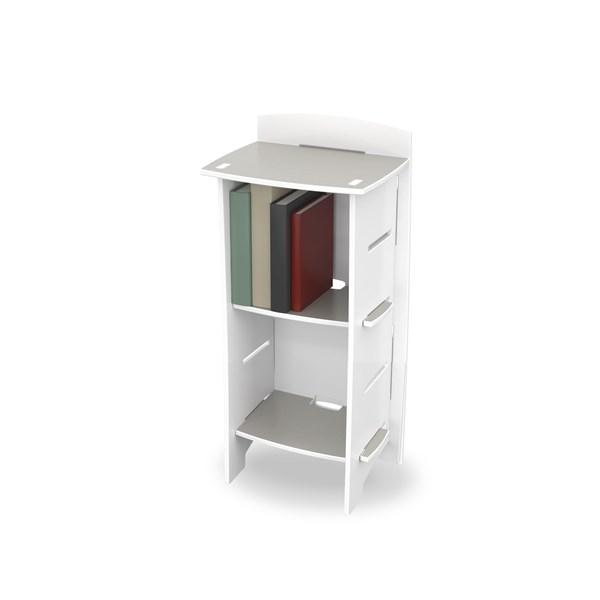 Easy Fit Kids Small Bookcase In 'White Skate' Design