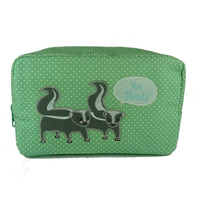 COSMETIC BAG in Skunk Design