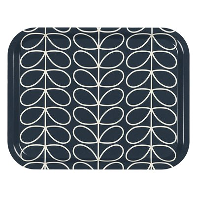ORLA KIELY MEDIUM TRAY in Linear Stem Slate Grey Print