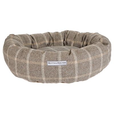 DONUT DOG BED in Slate Tweed