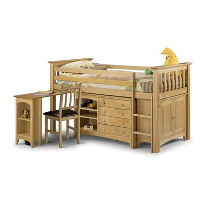 KIDS CABIN BED BARCELONA-STYLE SLEEP STATION in Pine