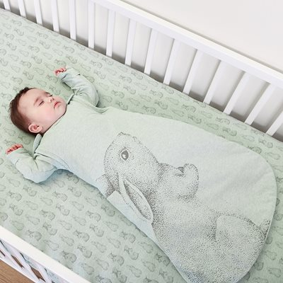 WILD COTTON ORGANIC BABY SLEEPING BAG  in Rabbit Design