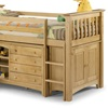 Pine Kids Cabin Bed with Ladder