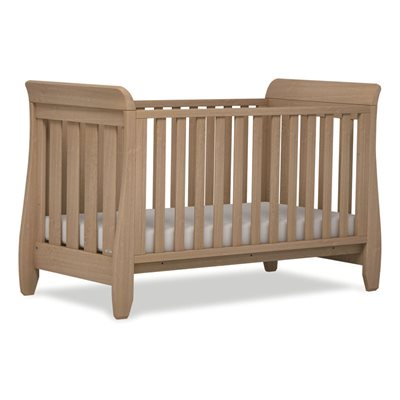 SLEIGH STYLE BABY COT BED in Almond