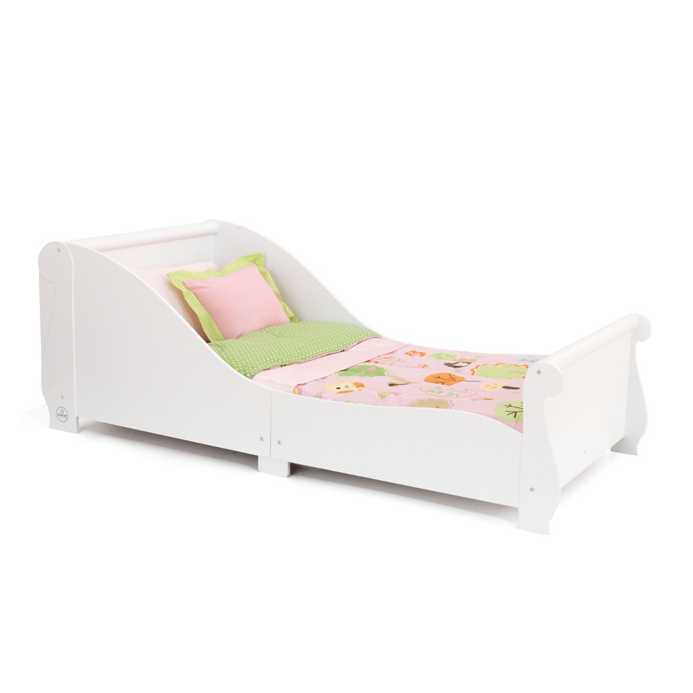 Toddler Sleigh Bed In White